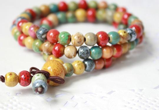 6mm Beads Strand Bracelets for Women Ceramic Bracelet Art Prayer Beads Bohemian Chakra Bracelet Accessories Drop Shipping